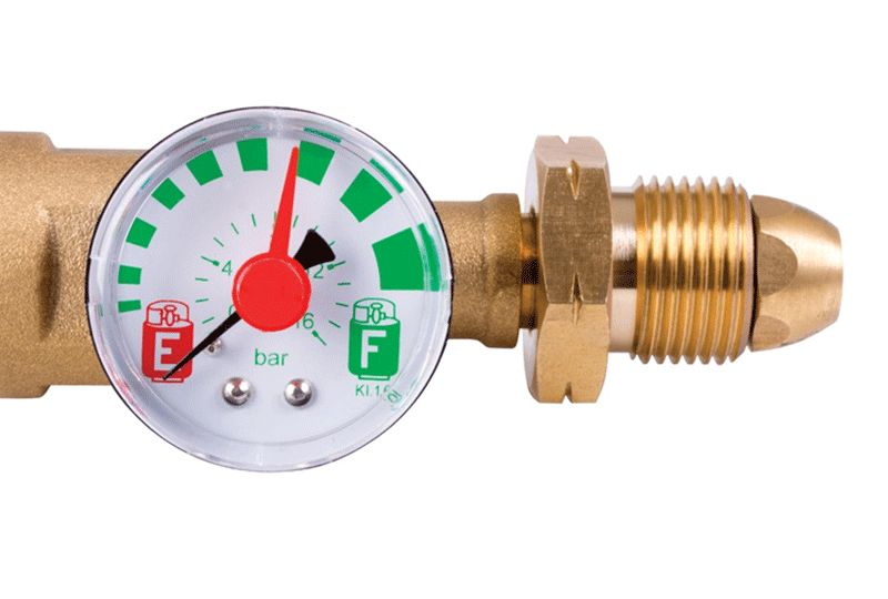 Combined contents gauge and safety valve