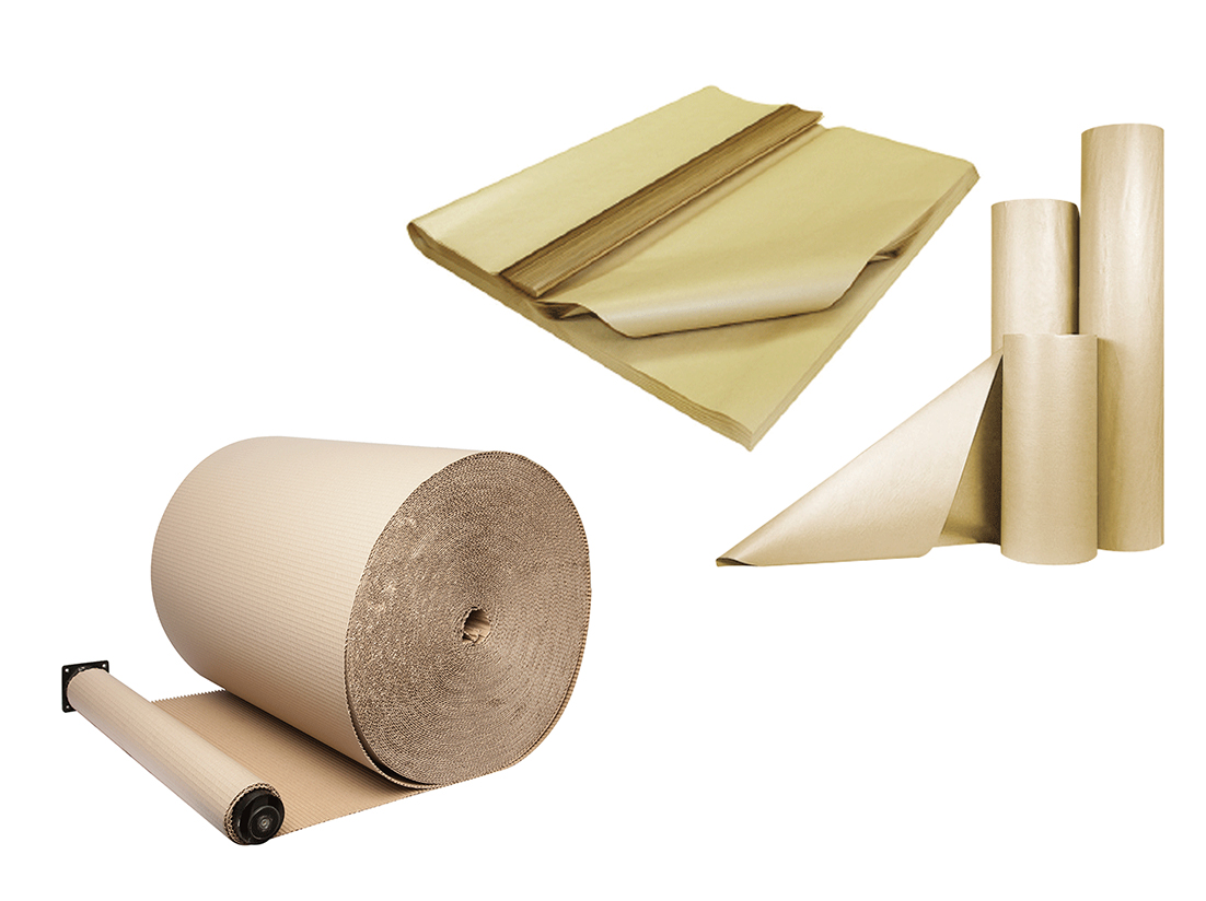 TVP Website product category wrapping paper and corrugated
