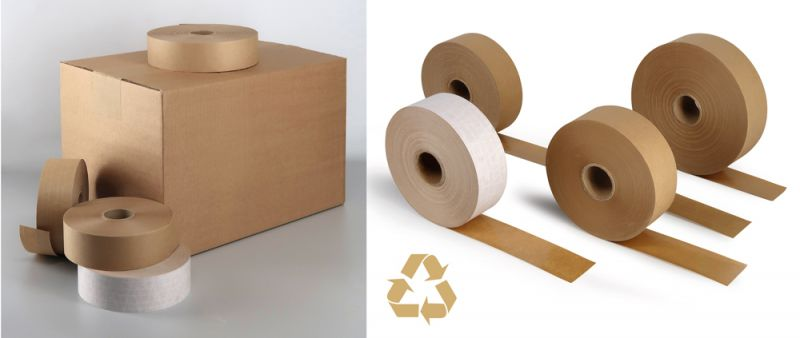 A secure way to seal boxes with a biodegradable Gummed Paper Tape