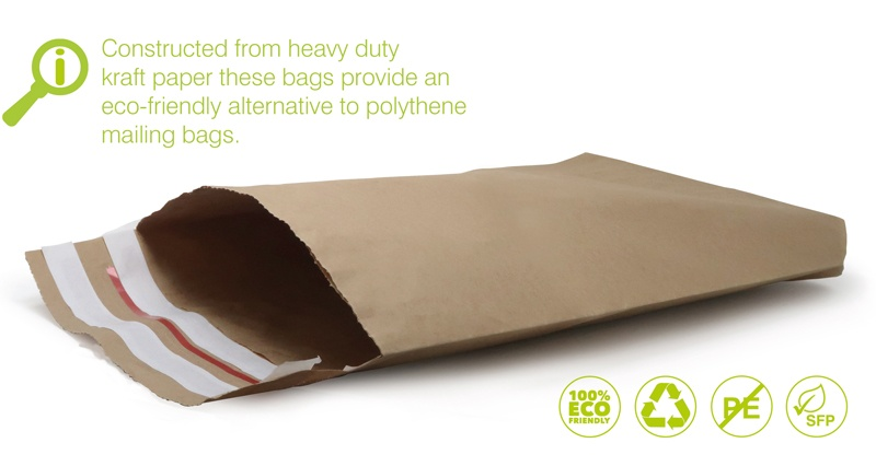 durable paper mailing envelopes with a self seal strip.