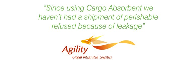 Testimonial from Agility cargo absorbent