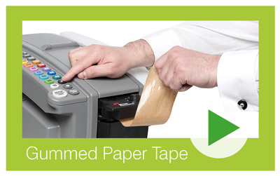 Watch the video to see how gummed paper tape works